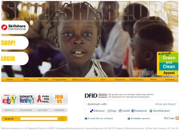 Skillshare International website