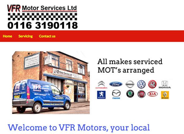 VFR Motors website