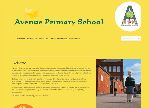 Avenue Road Junior School website and tuition