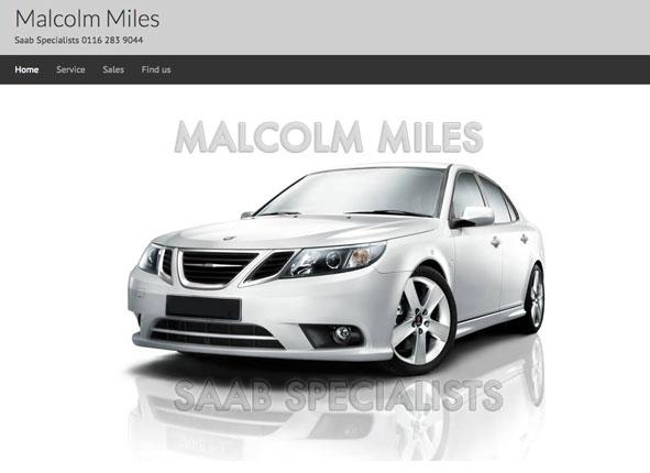 MMiles Saab Specialist website