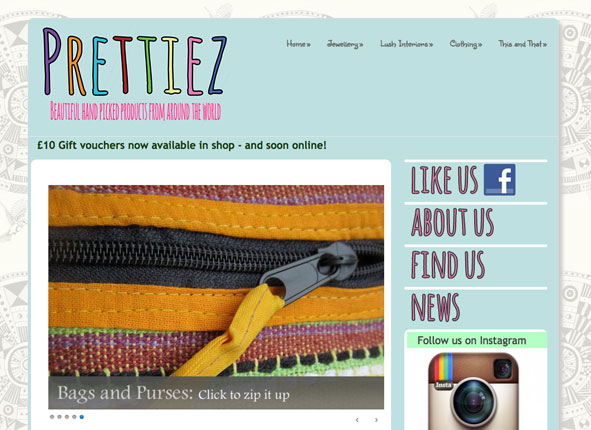 Prettiez retail - website