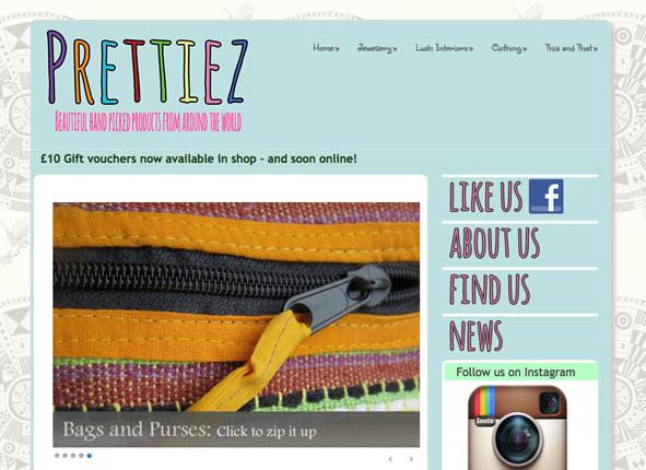 Prettiez retail - website