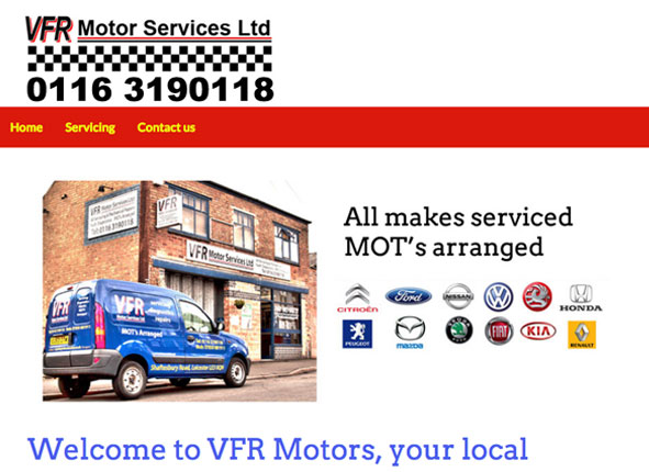 VFR Motors website