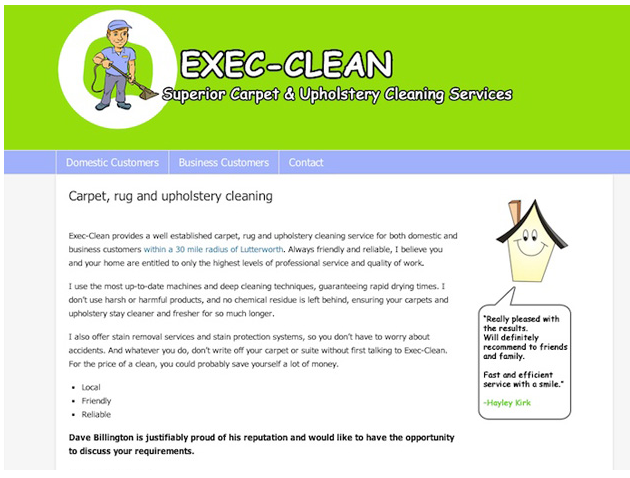 Exec clean - website