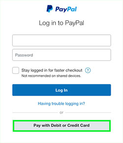 Paypal optional - you do not need a Paypal account